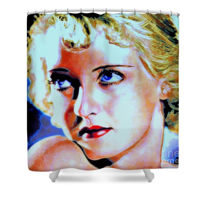 Bette Shower Curtain featuring the painting Bette by Wbk
