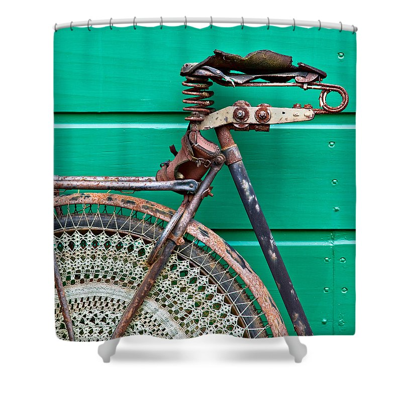 Bike Shower Curtain featuring the photograph Better Days by Dave Bowman