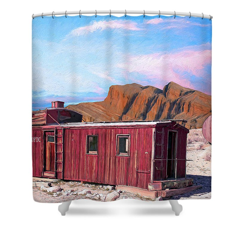 Better Days Shower Curtain featuring the painting Better Days by Dominic Piperata