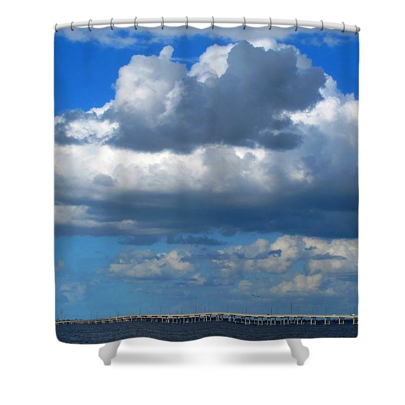 Punta Gorda Shower Curtain featuring the photograph Between by Ian MacDonald