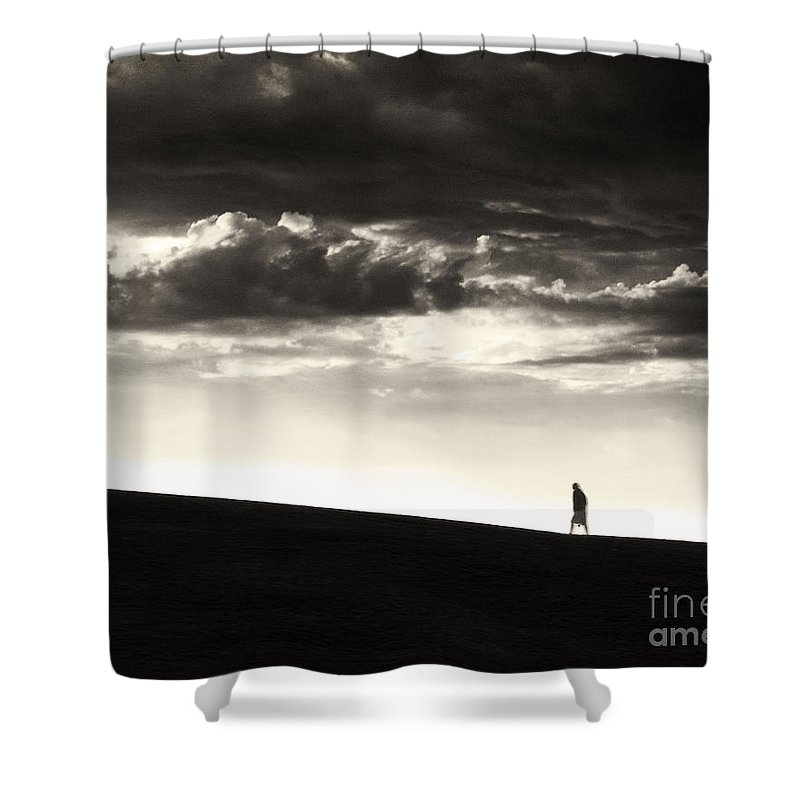 Man Shower Curtain featuring the photograph Between Living And Dying by Dana DiPasquale