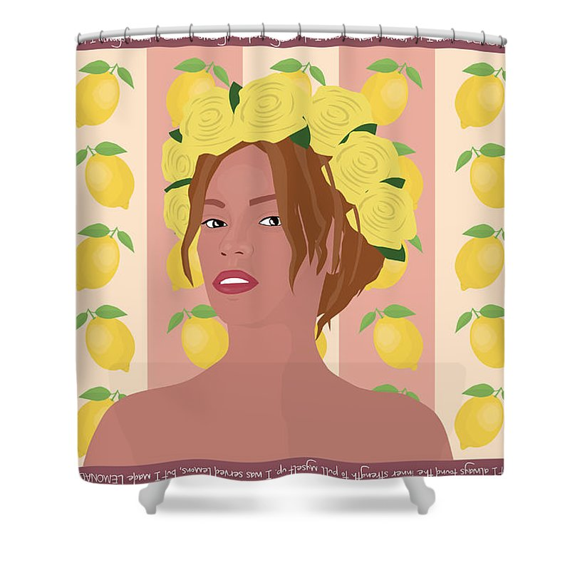 Vector Art Shower Curtain Featuring The Digital Beyonce Lemonade Appreciation By Karissa Tolliver