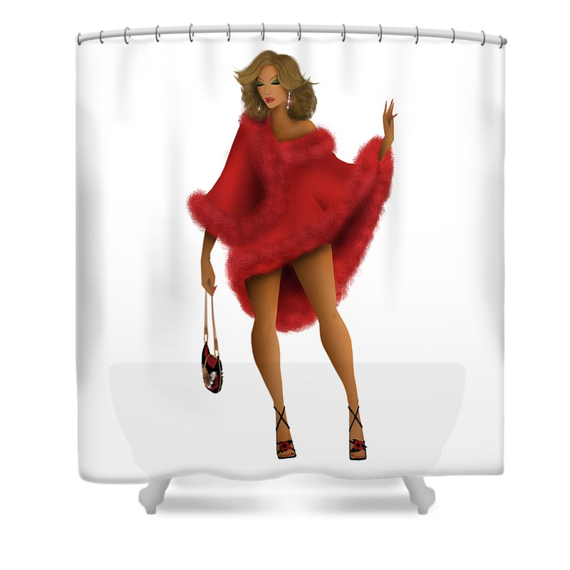 Beyonce Shower Curtain Featuring The Digital Art