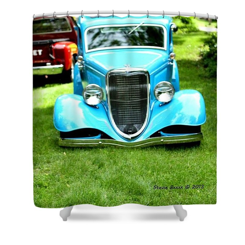 Classic Vintage Auto Automobile Car Life Photograph Collect Collection Shower Curtain featuring the photograph Beyond Classic. by Stevie Ellis