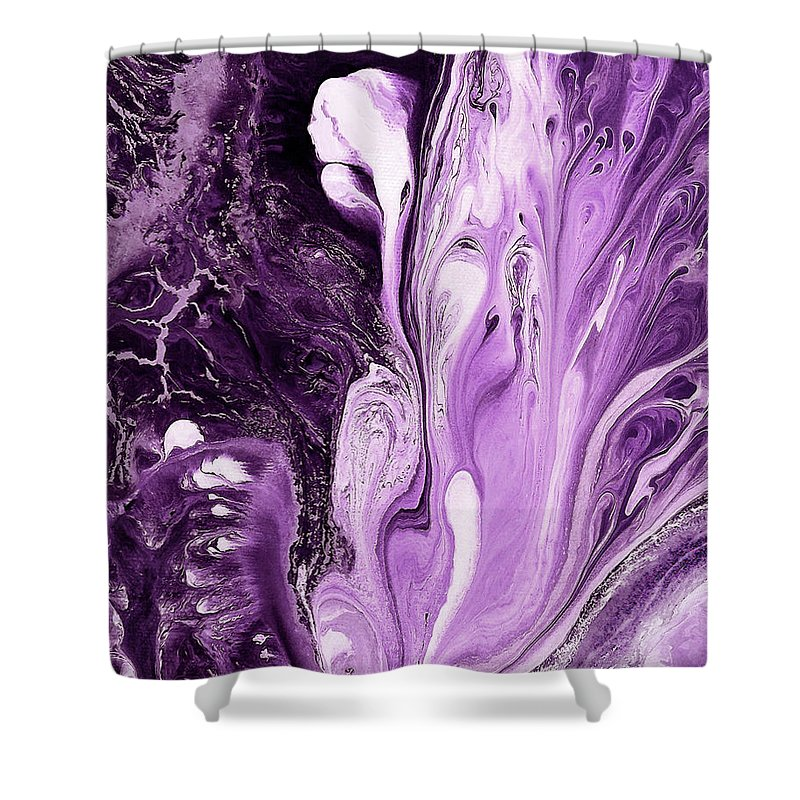 Shower Curtain featuring the painting Beyond Paradise by Destiny Womack