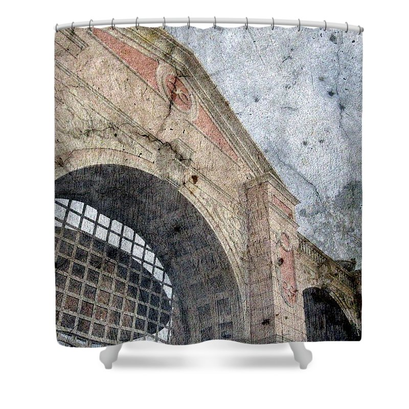 Beyond Shower Curtain featuring the photograph Beyond The Gates by Derick Burke