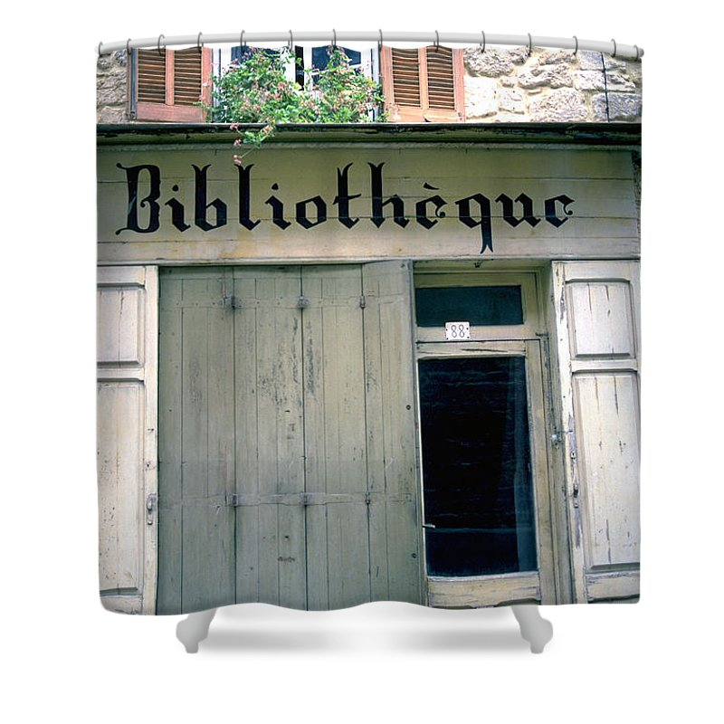Bibliotheque Shower Curtain featuring the photograph Bibliotheque by Flavia Westerwelle