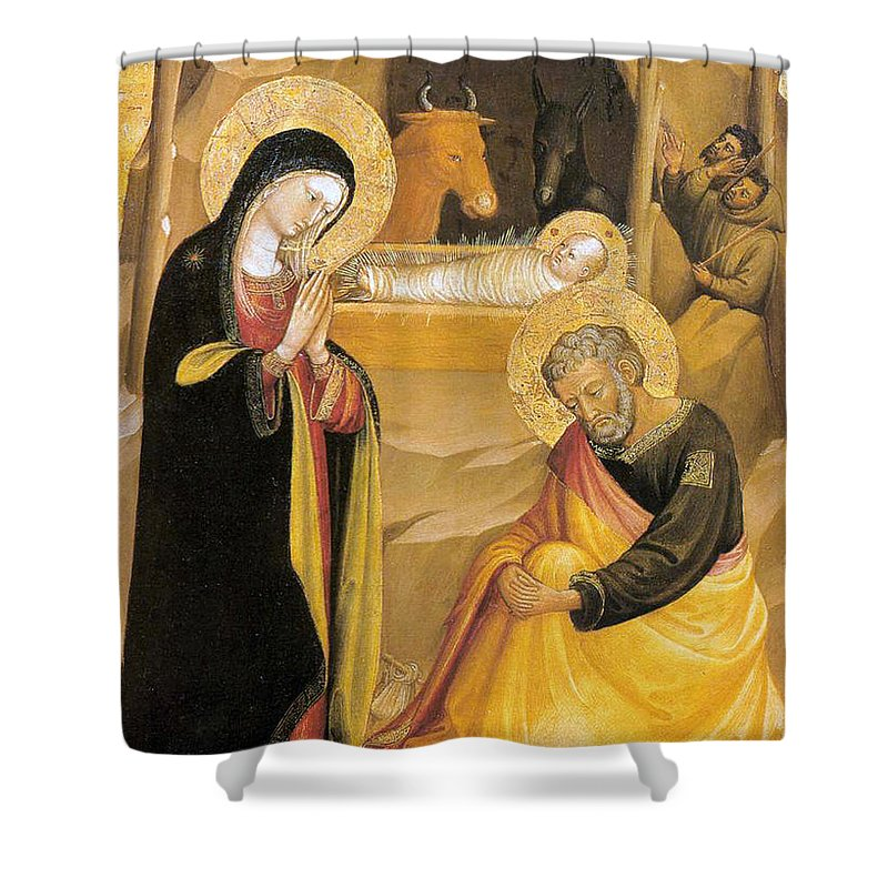 Painting Shower Curtain featuring the photograph Bicci Di Lorenzo Painting by Munir Alawi