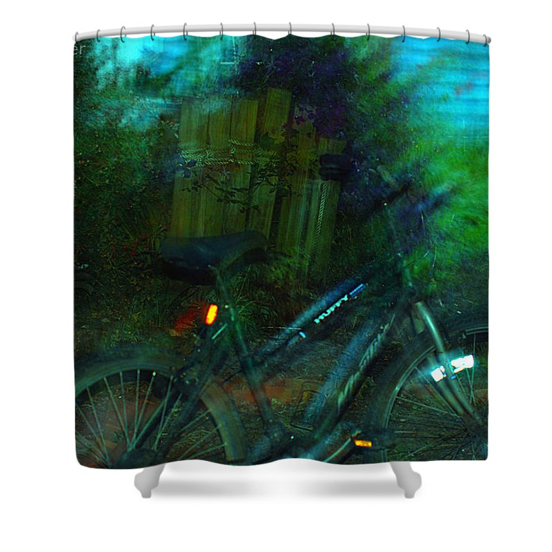Clay Shower Curtain featuring the photograph Bicycle by Clayton Bruster