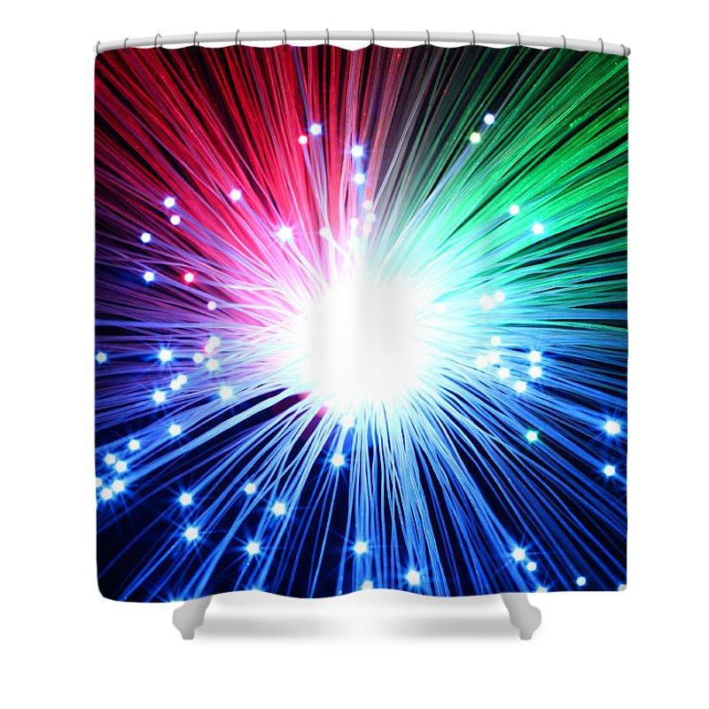 Blast Shower Curtain featuring the photograph Big Boom by Daniel Csoka