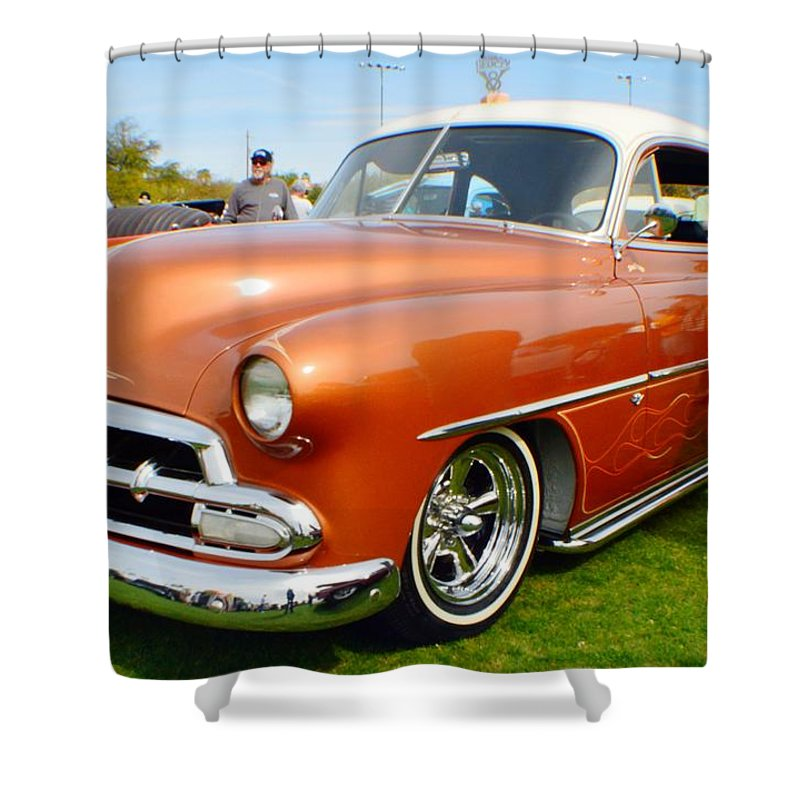 Hot Rod Shower Curtain featuring the photograph Big Boy by Barbara Angle