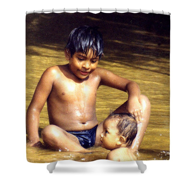 Children Shower Curtain featuring the photograph Big Brother Is Watching You by Wayne Potrafka