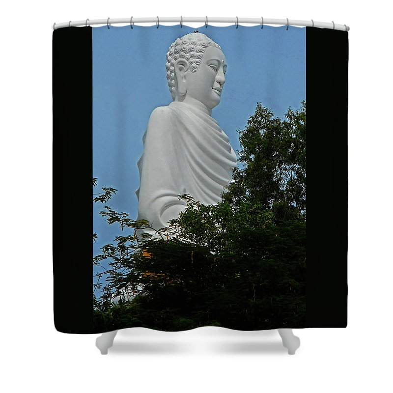 Phu My Shower Curtain featuring the photograph Big Buddha 5 by Ron Kandt