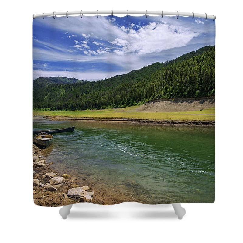Big Elk Creek Shower Curtain featuring the photograph Big Elk Creek by Chad Dutson