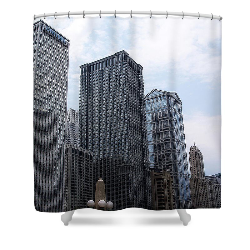 Chicago Shower Curtain featuring the photograph Big N Tall by Donna Blackhall