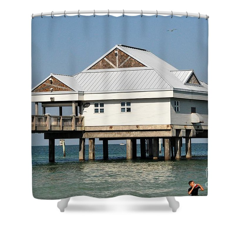 Clearwater Shower Curtain featuring the photograph Big Pier 60 by John Black