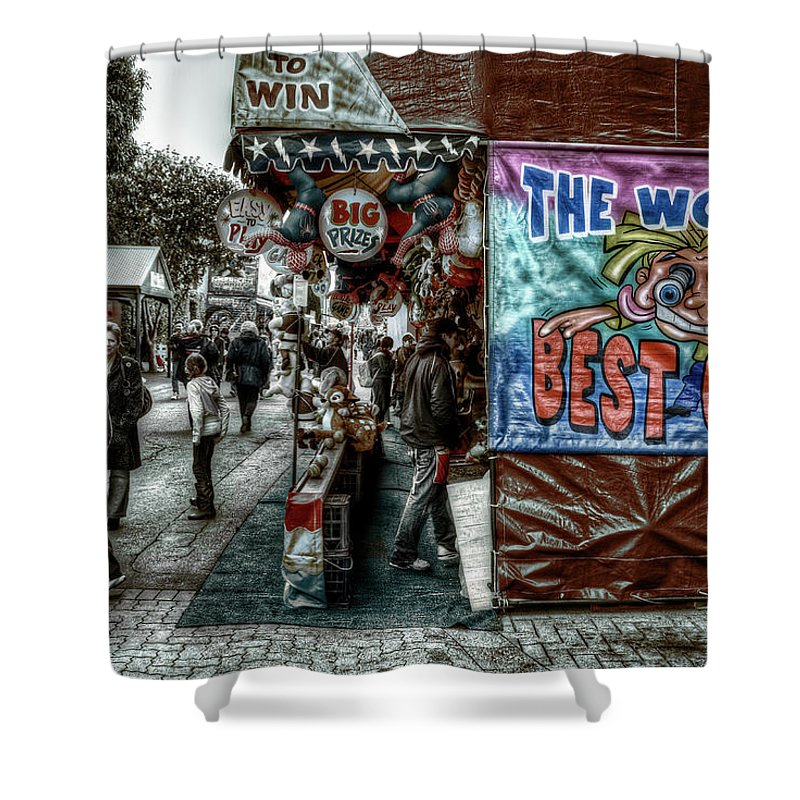 People Shower Curtain featuring the photograph Big Prizes by Wayne Sherriff