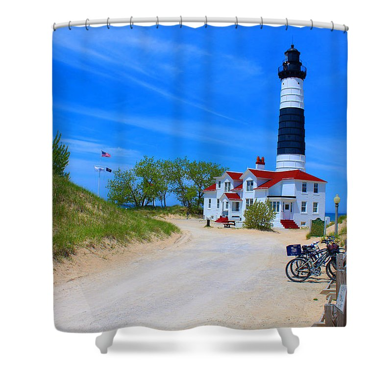 Lighthouse Shower Curtain featuring the photograph Big Sable Point Lighthouse by Michael Rucker