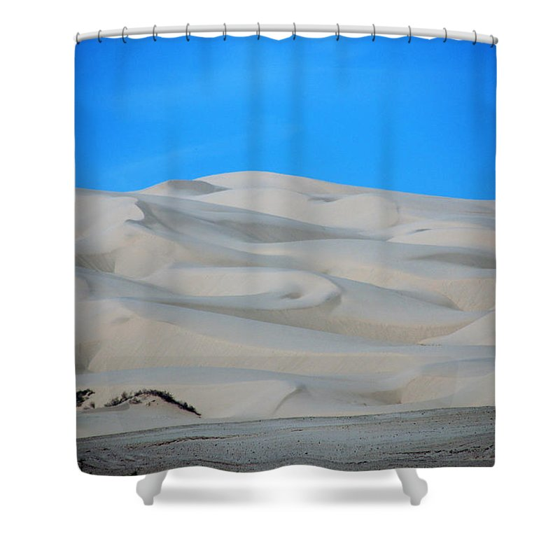 Sand Shower Curtain featuring the photograph Big Sand Dunes In Ca by Susanne Van Hulst