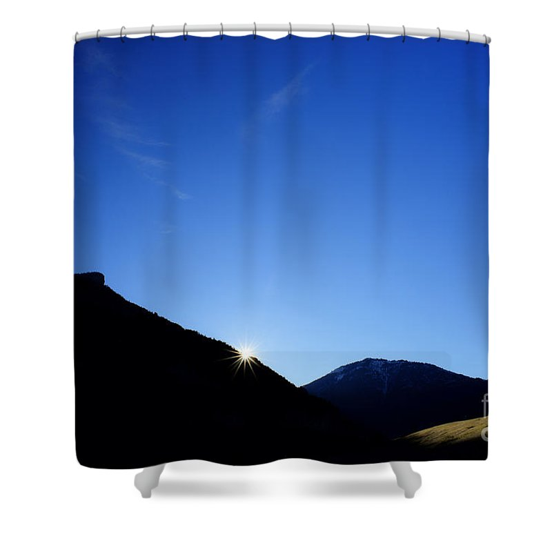 Landscape Shower Curtain featuring the photograph Big Sky Country by Chip Laughton