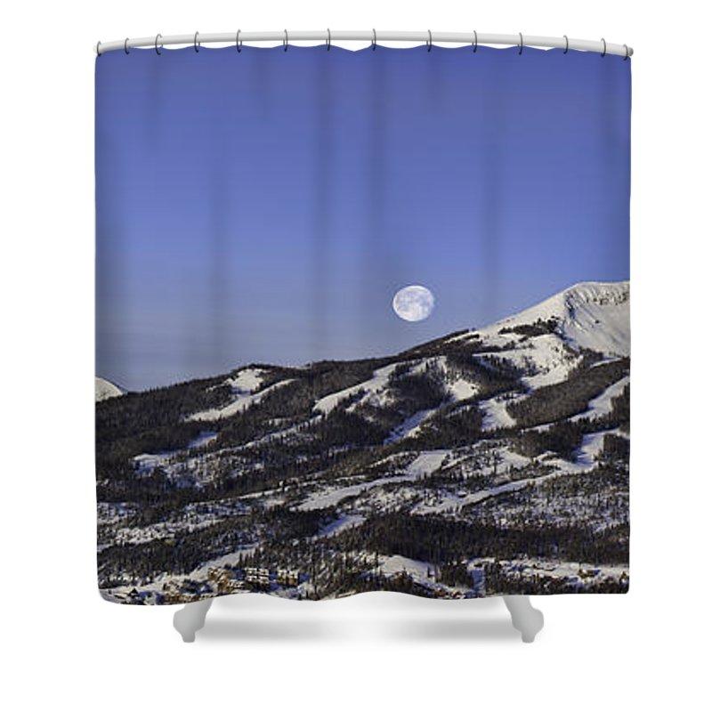 Panorama Shower Curtain featuring the photograph Big Sky Panorama by Mark Harrington