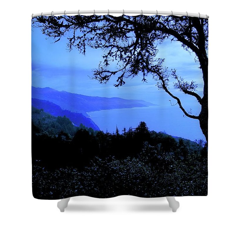 Nature Shower Curtain featuring the photograph Big Sur Blue, California by Zayne Diamond Photographic