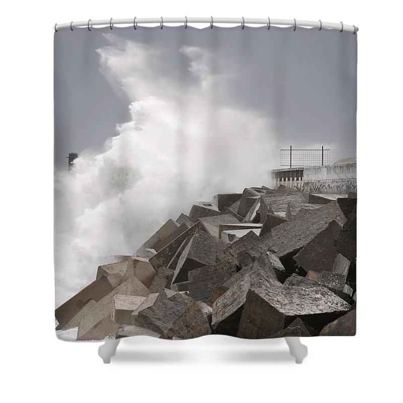 Spain Shower Curtain featuring the photograph Big Waves IIi by Rafa Rivas