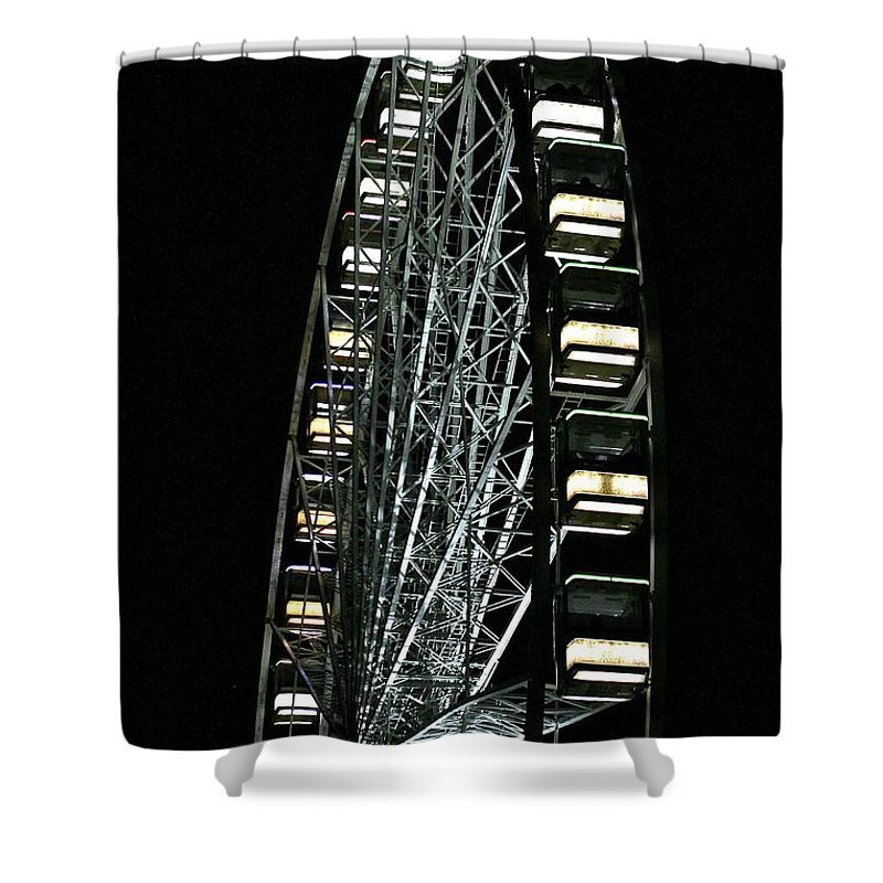 Big Wheel Shower Curtain featuring the photograph Big Wheel by Steve Swindells