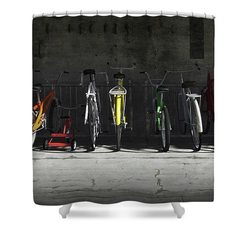 Transportation Shower Curtains