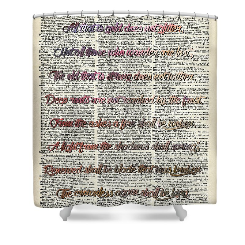 Bilbo Baggins Shower Curtain Featuring The Drawing Bilbo Baggins Quote  Vintage Art By Anna Wilkon