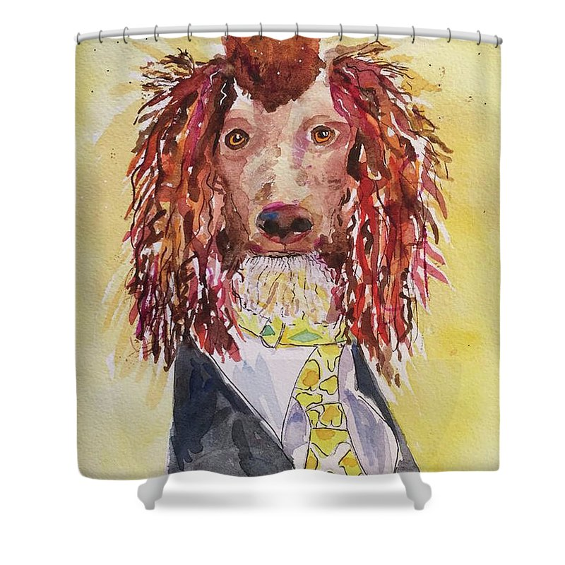 Shower Curtain featuring the painting Bill by Bonny Butler