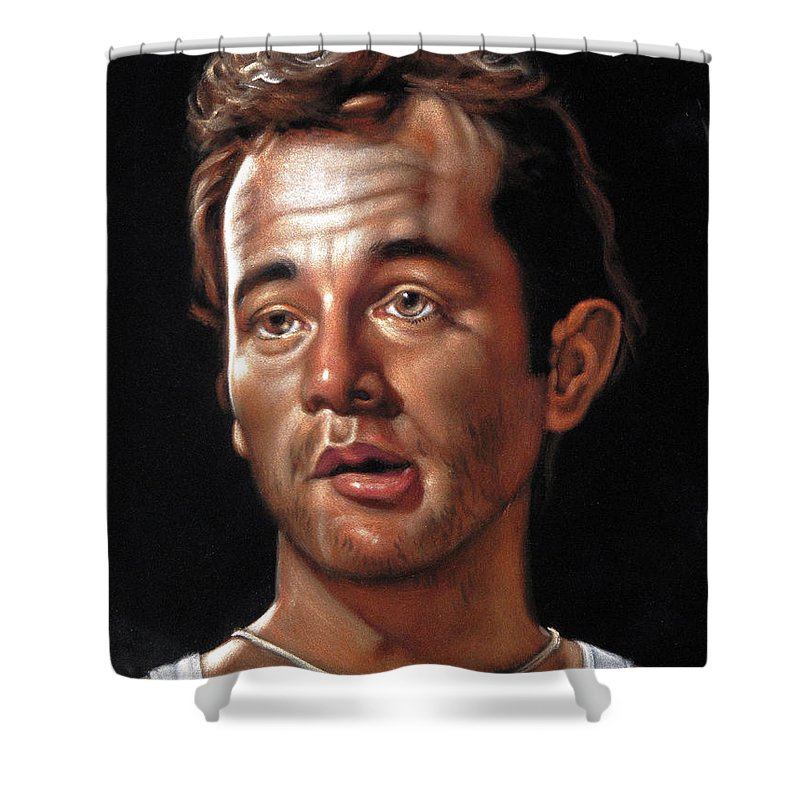 Velvet Shower Curtain Featuring The Painting Bill Murray As Spackler In Caddyshack By Argo