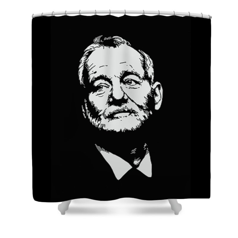 Bill Murray Shower Curtain Featuring The Painting By Ian King