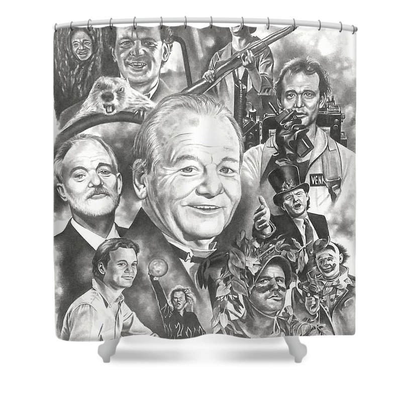 Bill Murray Shower Curtain Featuring The Drawing By James Rodgers