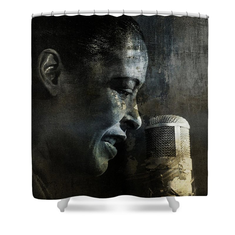 Billie Holiday Shower Curtains