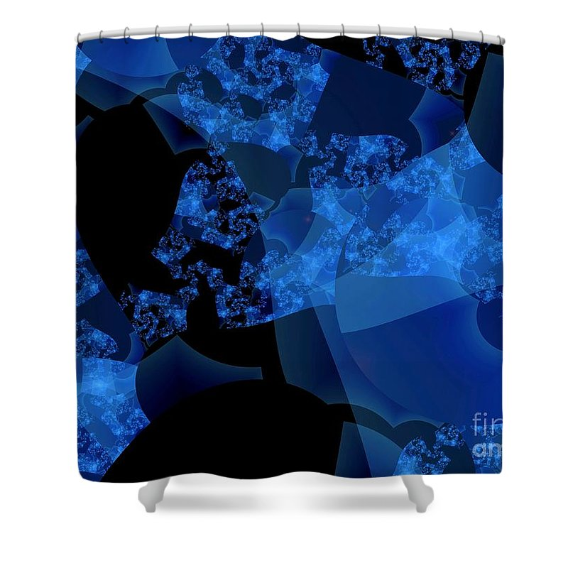 Fractal Art Shower Curtain featuring the digital art Bioluminescence by Ron Bissett