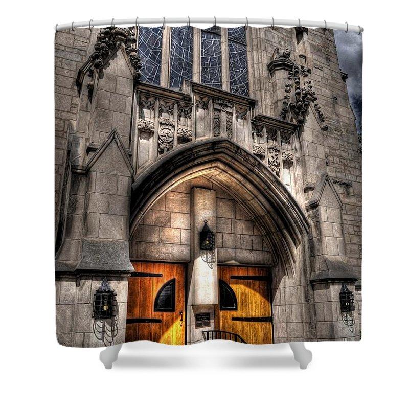 Chris Fleming Shower Curtain featuring the photograph Birmingham Church by Chris Fleming