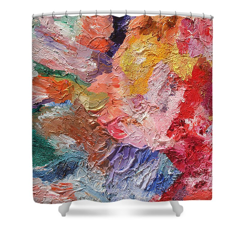 Fusionart Shower Curtain featuring the painting Birth Of Passion by Ralph White