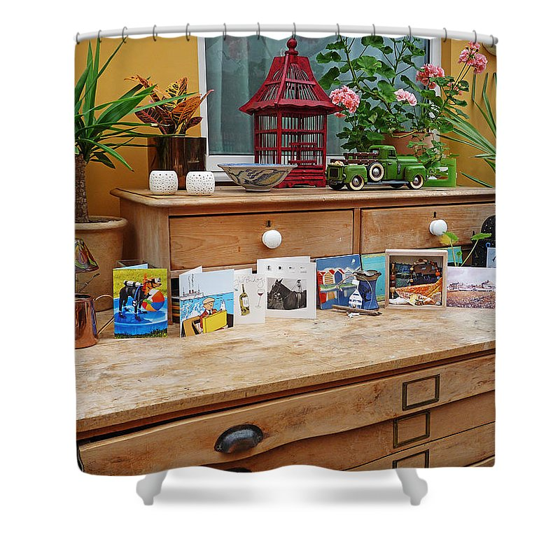 Birthday Shower Curtain featuring the photograph Birthday Boy by Charles Stuart