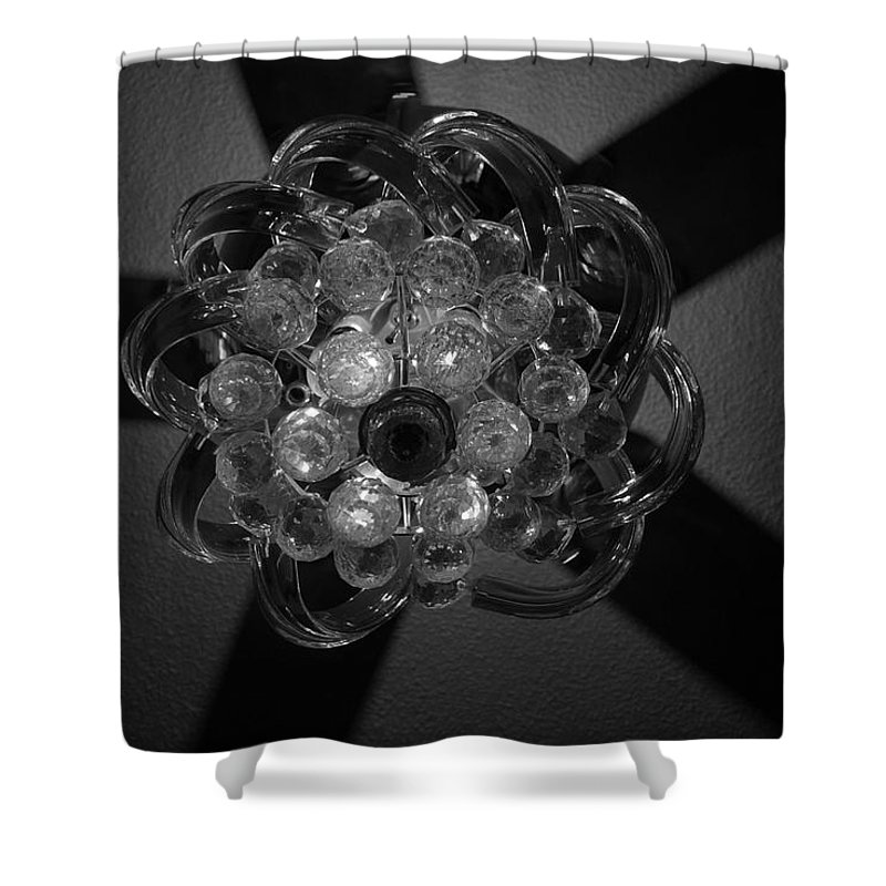 Fan Shower Curtain featuring the photograph Black And White Crystal by Rob Hans