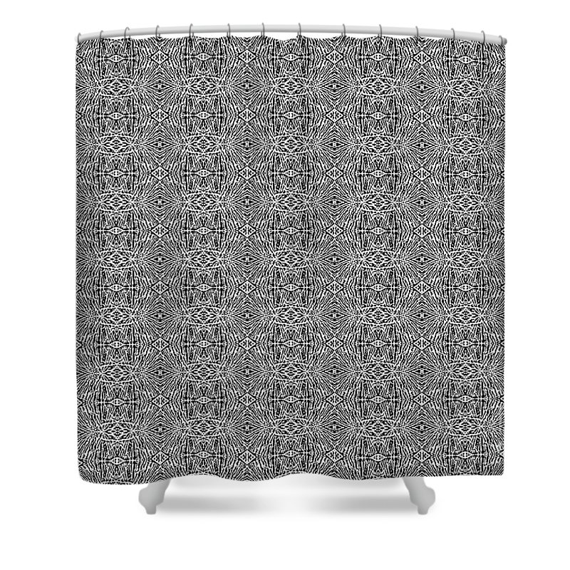 Black And White Shower Curtain featuring the photograph Black And White Design 1 by Kerri Farley