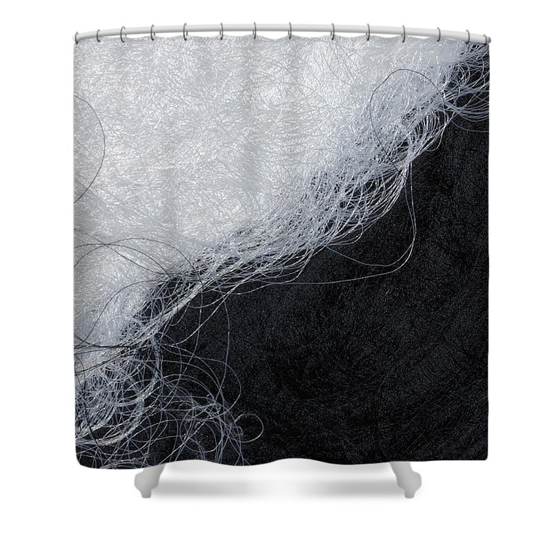 Fibers Shower Curtain featuring the photograph Black And White Fibers - Yin And Yang by Matthias Hauser