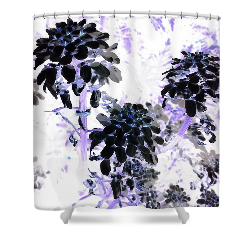 Orphelia Aristal Shower Curtain featuring the photograph Black Blooms I I by Orphelia Aristal