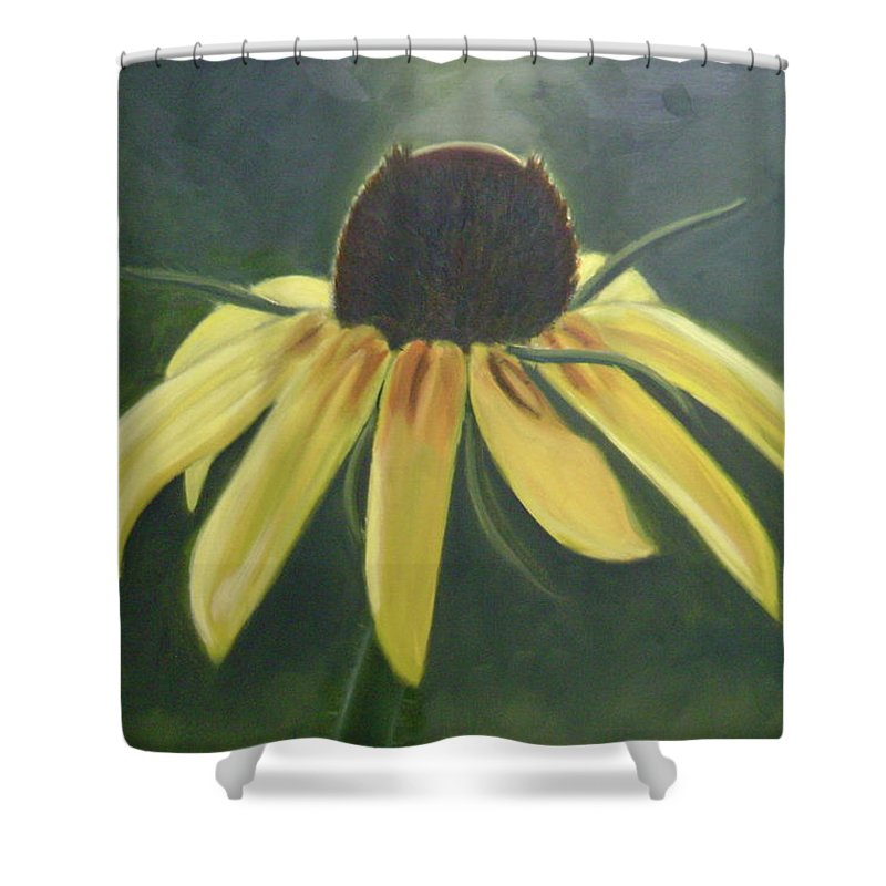 Flower Shower Curtain featuring the painting Black Eyed Susan by Toni Berry