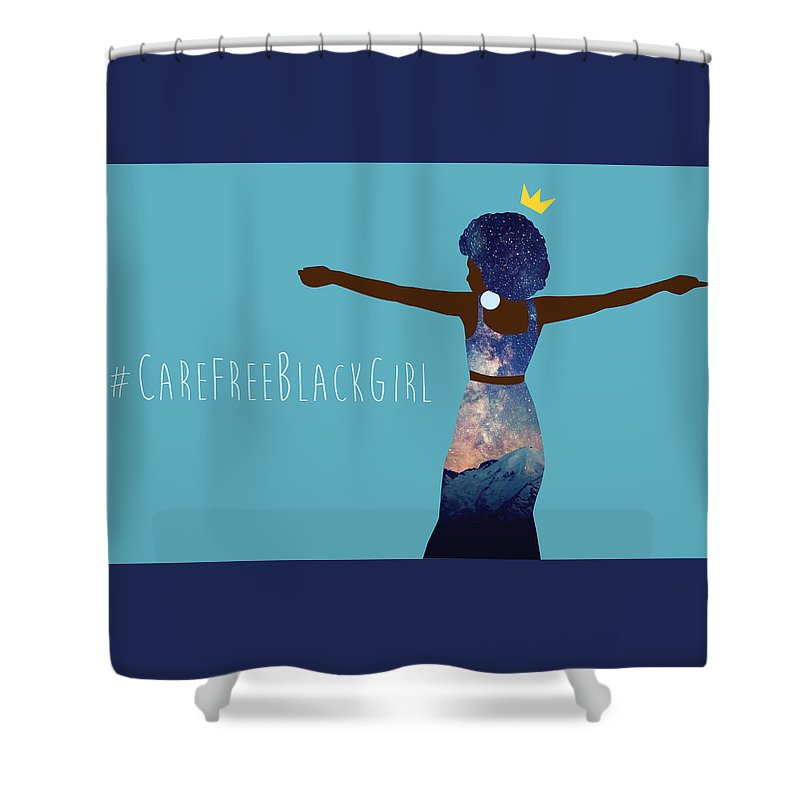 African American Shower Curtain Featuring The Digital Art Black Girl Magic Carefree By Karissa Tolliver