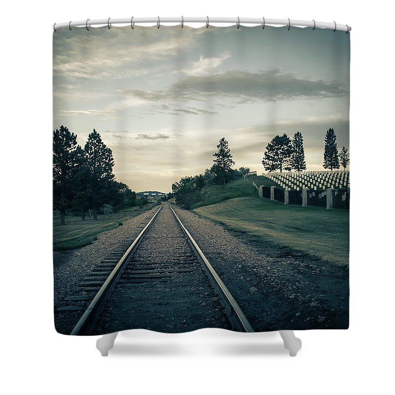Cemetery Shower Curtain featuring the photograph Black Hills National Cemetery by Greg Sommer