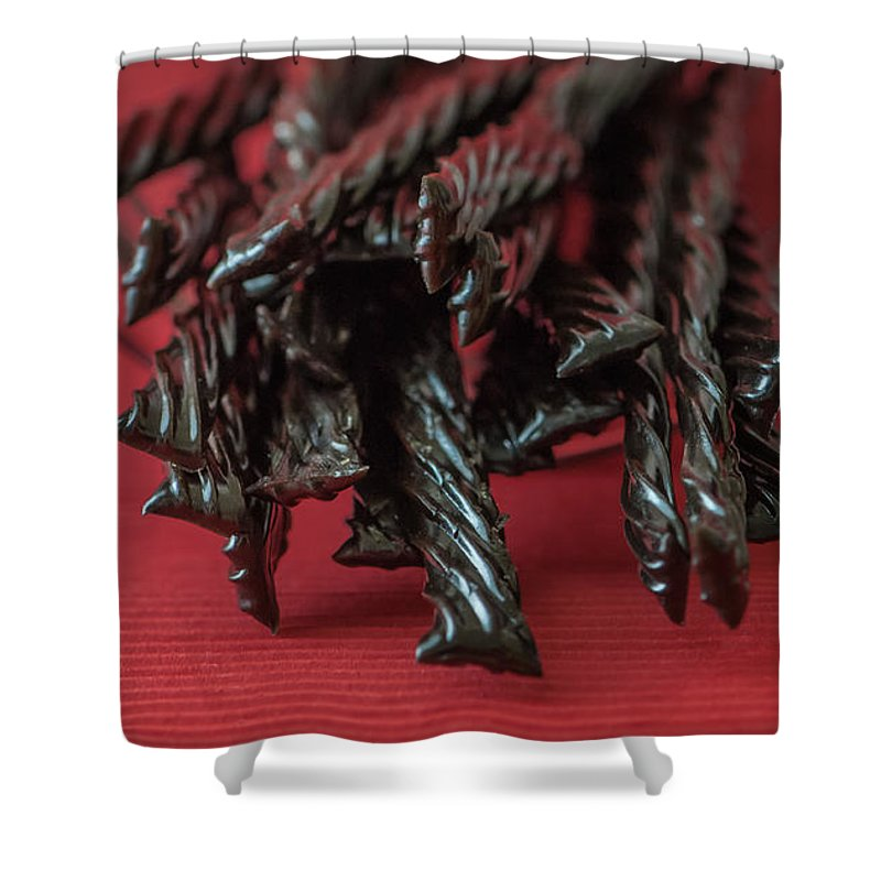 Black Shower Curtain featuring the photograph Black Licorice by Maggie Terlecki