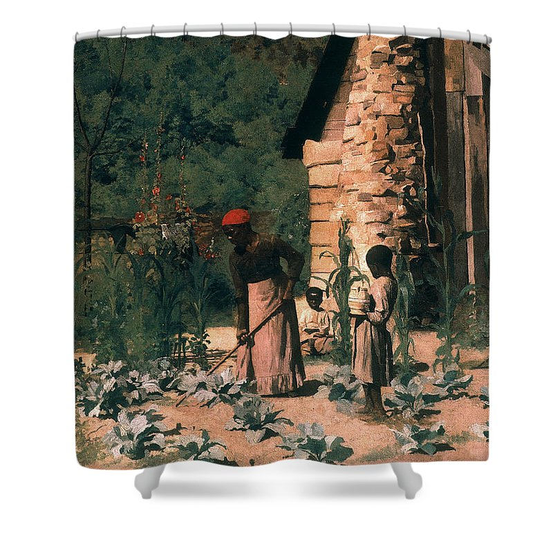1879 Shower Curtain featuring the photograph Black Sharecroppers, 1879 by Granger