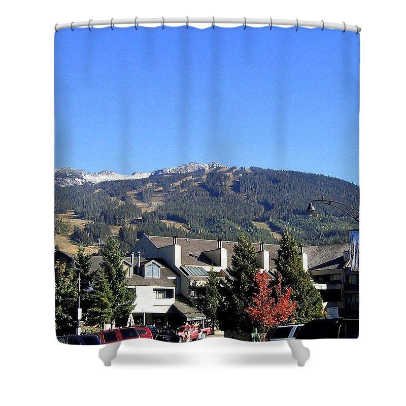 2010 Olympics Shower Curtain featuring the photograph Blackcomb Mountain by Will Borden