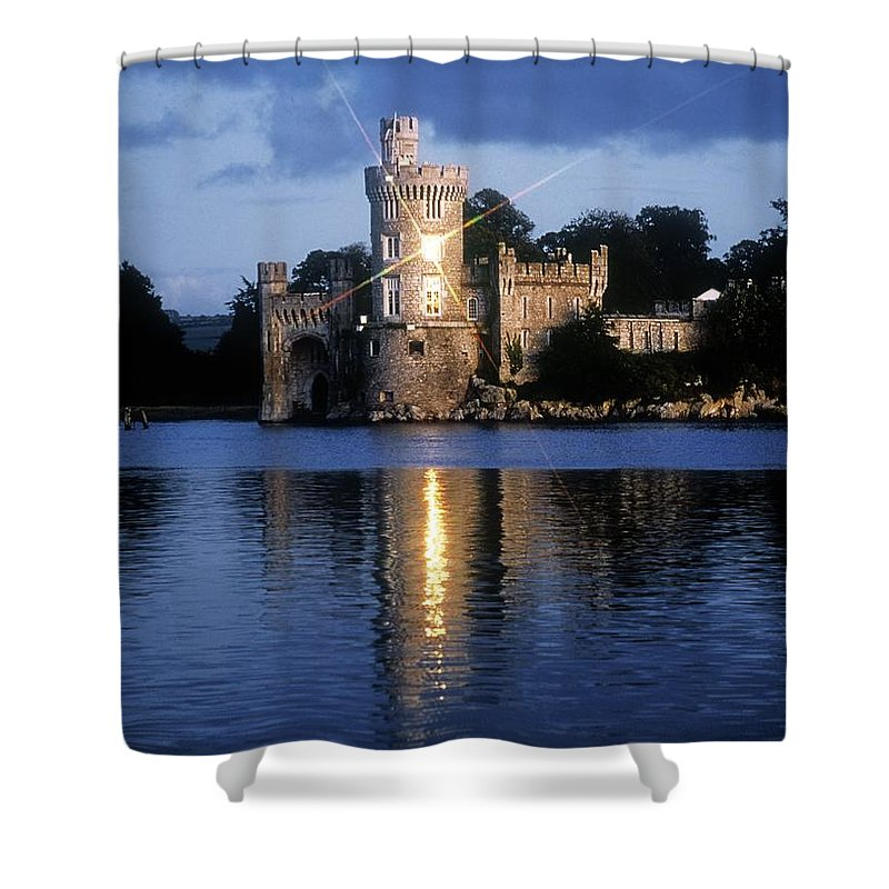 Architectural Exteriors Shower Curtain featuring the photograph Blackrock Castle, River Lee, Near Cork by The Irish Image Collection